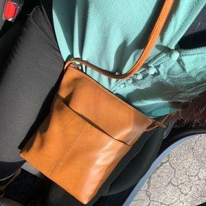 Handbags - Tan Leather Crossbody